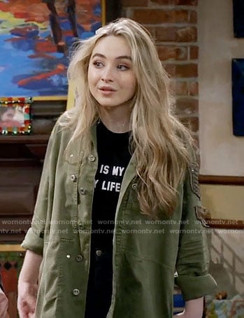 Maya's army jacket on Girl Meets World