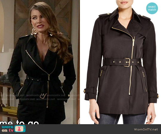 MICHAEL Michael Kors Zip Trench Coat worn by Sofia Vergara on Modern Family