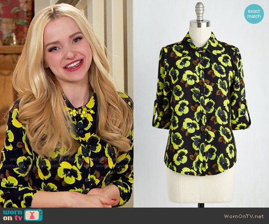 ModCloth Juxtapose and Cons Top worn by Dove Cameron on Liv & Maddie