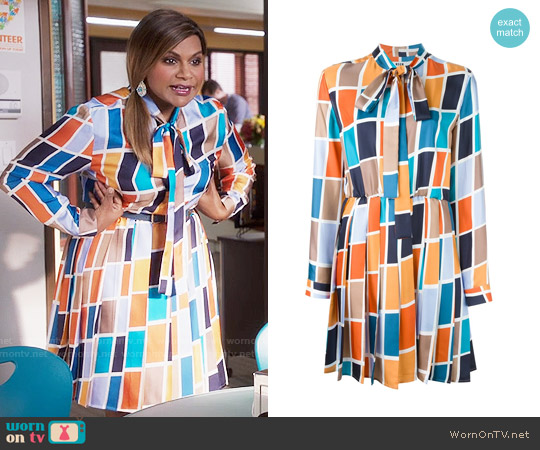 MSGM Pleated Skirt Dress worn by Mindy Kaling on The Mindy Project