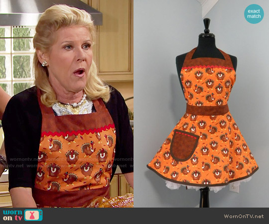 MyEmptyNestDesigns Thanksgiving Turkey Full Apron worn by Pamela Douglas (Alley Mills) on The Bold & the Beautiful