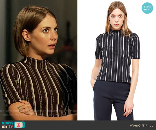 Opening Ceremony Striped Top worn by Willa Holland on Arrow