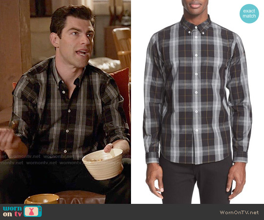 Paul Smith Extra Trim Fit Plaid Sport Shirt worn by Max Greenfield on New Girl