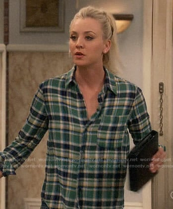 Penny's green plaid shirt on The Big Bang Theory