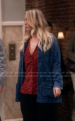 Penny's denim parka on The Big Bang Theory