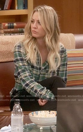 Penn's green plaid shirt on The Big Bang Theory