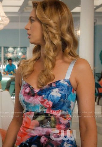 Petra's multi-colored floral dress on Jane the Virgin