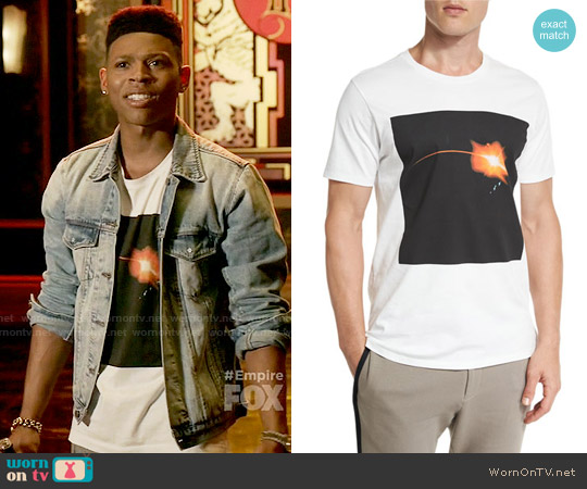 Public School Galaxy-Print Short-Sleeve T-Shirt worn by Hakeem Lyon (Bryshere Y. Gray) on Empire