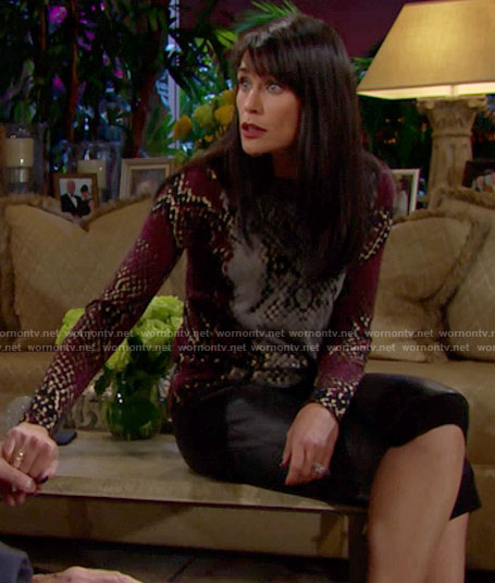 Quinn's snake print sweater on The Bold and the Beautiful
