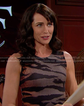 Quinn's tiger striped dress on The Bold and the Beautiful