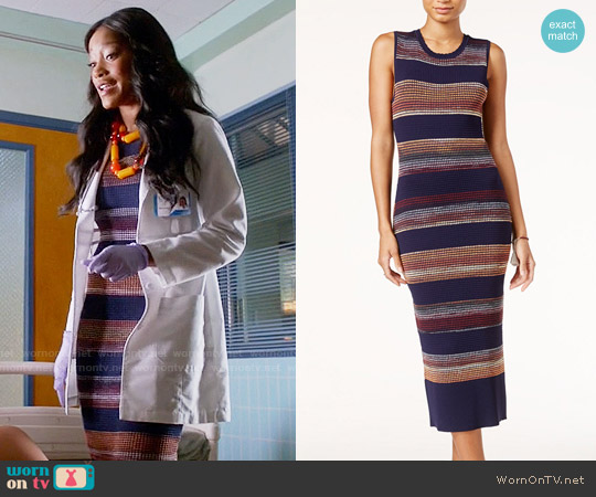 Rachel Roy Textured Space Dyed Sweater Dress worn by Keke Palmer on Scream Queens