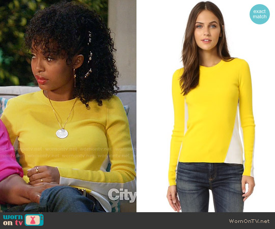Rag & Bone Cecilee Sweater worn by Zoey Johnson (Yara Shahidi) on Blackish