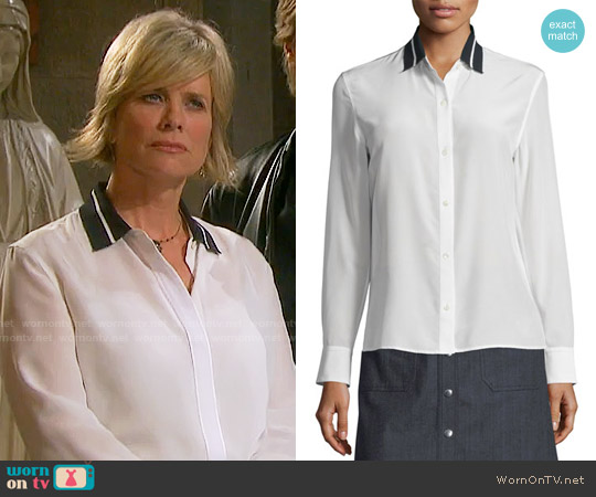 Rag & Bone Nico Blouse worn by Mary Beth Evans on Days of our Lives