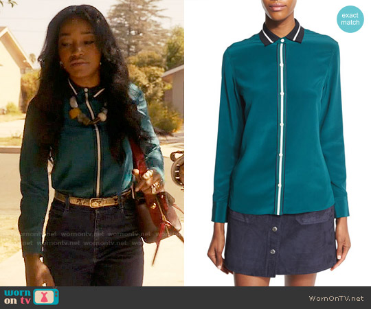 Rag & Bone Nico Shirt worn by Keke Palmer on Scream Queens