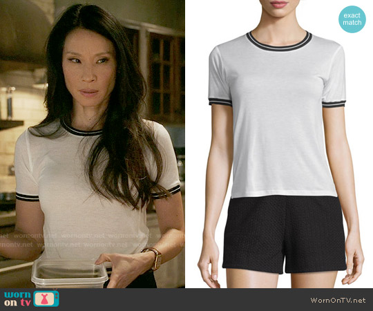 Rag & Bone Stevie Tee worn by Lucy Liu on Elementary