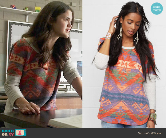 Ralph Lauren Denim & Supply Boho Knit Sweatshirt worn by Victoria Moroles on Teen Wolf