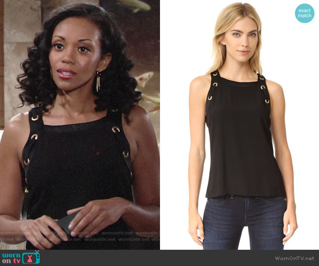 Ramy Brook Angelique Top worn by Mishael Morgan on The Young & the Restless