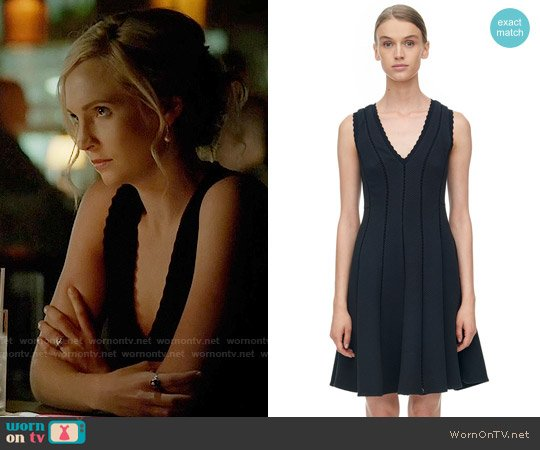 Rebecca Taylor Diamond Texture Dress worn by Caroline Forbes (Candice Accola) on The Vampire Diaries