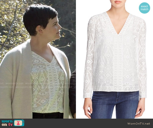 Rebecca Taylor Embellished Top worn by Ginnifer Goodwin on OUAT