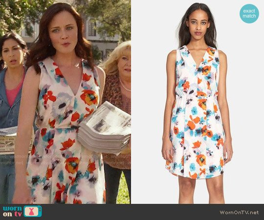 Rebecca Taylor 'Flower Press' Silk Dress worn by Alexis Bledel on Gilmore Girls