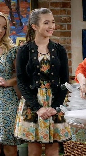 Riley's bordered floral print dress on Girl Meets World