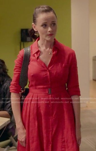 Rory's red shirtdress on Gilmore Girls: A Year in the Life