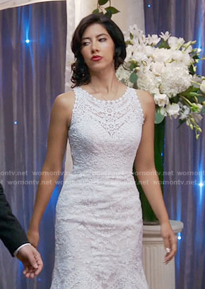 Rosa's wedding dress on Brooklyn Nine-Nine