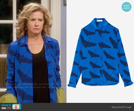 Sandro Lena Shirt worn by Nancy Travis on Last Man Standing