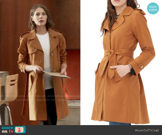 Sandro 'Malory' Trench worn by Willa Holland on The Flash