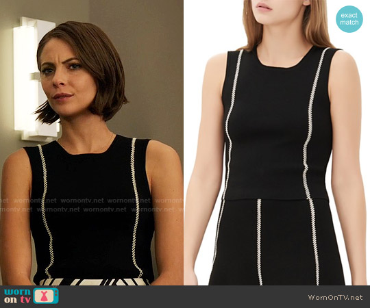 Sandro Safa top worn by Willa Holland on Arrow