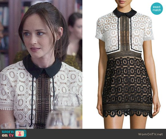 0466ae9c263 Self Portrait Felicia Dress worn by Rory Gilmore (Alexis Bledel) on Gilmore  Girls
