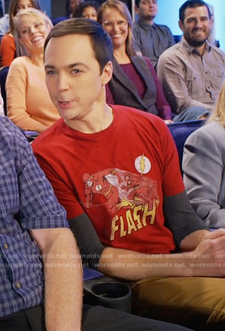 Sheldon's Flash t-shirt on The Big Bang Theory