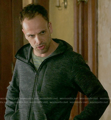 Sherlock's dark grey hoodie on Elementary