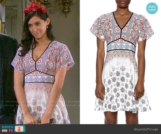 Shoshanna Amber Dress worn by Camila Banus on Days of our Lives