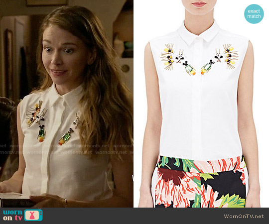 Stella McCartney Laure Top worn by Sutton Foster on Younger