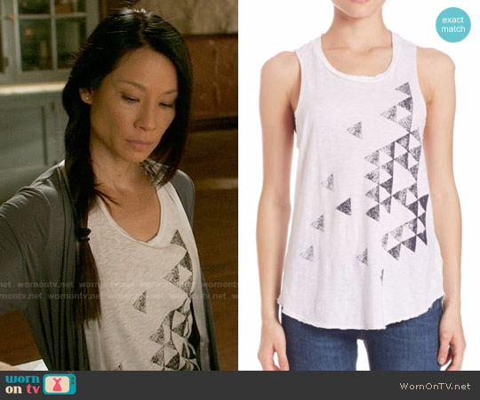 Sundry Triangles Tank Top worn by Joan Watson (Lucy Liu) on Elementary