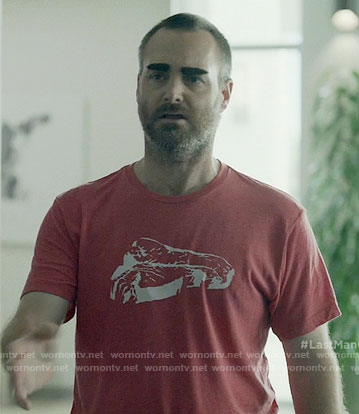 Tandy's red steak t-shirt on Last Man on Earth