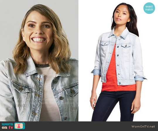 Mossimo Light Wash Denim Jacket worn by Malia Tate on Teen Wolf