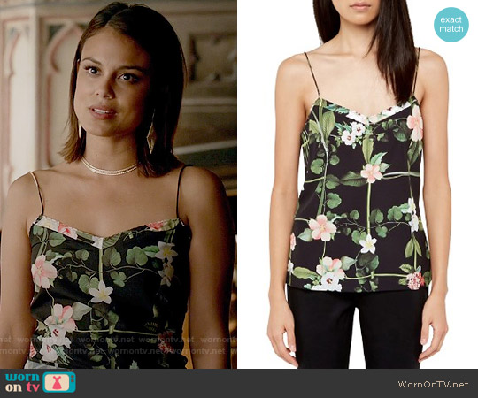 Ted Baker Cynaria Top worn by Nathalie Kelley on The Vampire Diaries