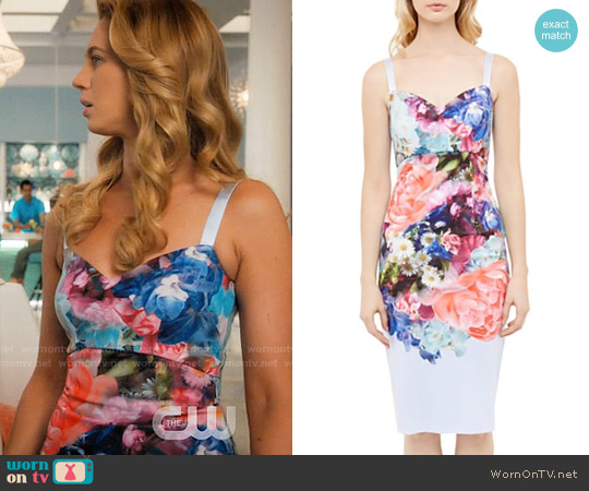 Ted Baker Emore Dress worn by Petra Solano (Yael Grobglas) on Jane the Virgin