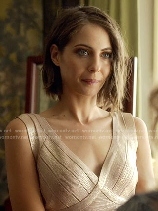 Thea's metallic bridesmaid dress on Arrow