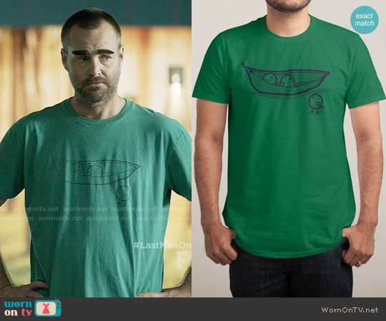 Threadless Chick Peas Tee worn by Will Forte on Last Man On Earth