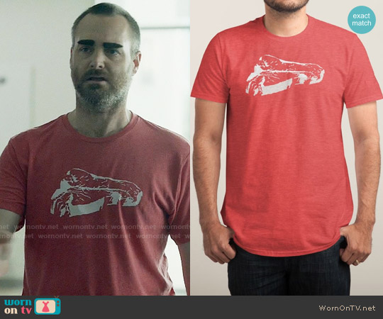 Threadless Piece of Meat Tee worn by Will Forte on Last Man On Earth