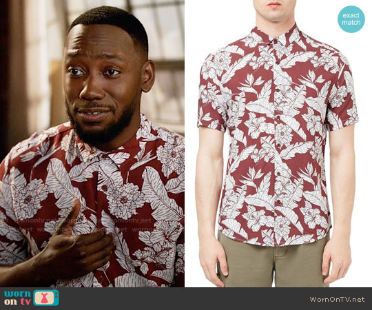 Topman Floral Print Shirt worn by Lamorne Morris on New Girl