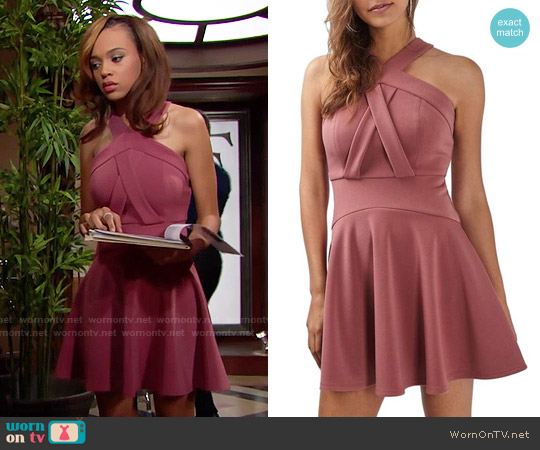 Topshop Cross Neck Skater Dress worn by Reign Edwards on The Bold & the Beautiful