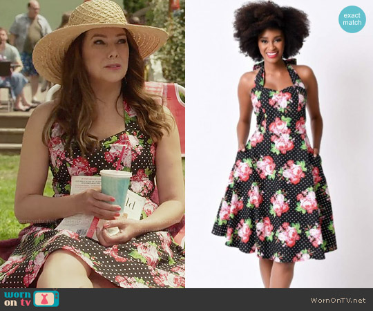 Unique Vintage Annabella Halter Swing Dress worn by Lorelai Gilmore (Lauren Graham) on Gilmore Girls