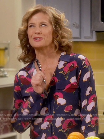 Vanessa's poppy print blouse on Last Man Standing