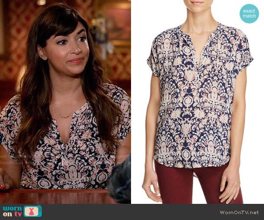 Velvet by Graham & Spencer Chasis Blouse worn by Cece Parekh (Hannah Simone) on New Girl