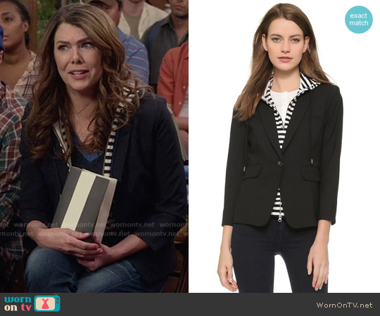 Veronica Beard Schoolboy Jacket with Striped Dickey worn by Lorelai Gilmore (Lauren Graham) on Gilmore Girls