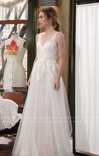 Victoria's wedding gown on The Young and the Restless